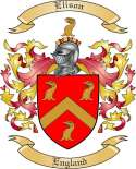 Elison Family Crest from England