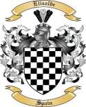 Elizalde Family Crest from Spain