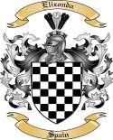 Elizonda Family Crest from Spain