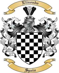 Elizondo Family Coat of Arms from Spain