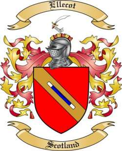Ellecot Family Crest from Scotland