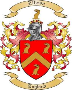 ellison family crest from england by the tree maker