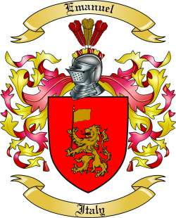 Emanuel Family Crest from Italy by The Tree Maker