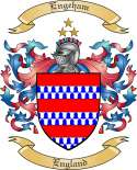 Engeham Family Crest from England