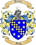 Enrica Family Crest from Italy