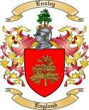 Ensley Family Crest from England