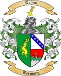 Erban Family Coat of Arms from Germany