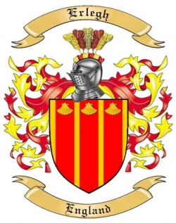 Erlegh Family Coat of Arms from England