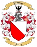 Ermanni Family Crest from Italy