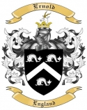 Ernold Family Crest from England