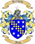 Errichetta Family Crest from Italy