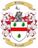 Ervine Family Crest from Ireland