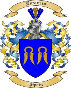 Escanero Family Coat of Arms from Spain