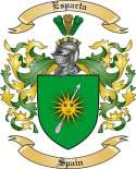 Esparta Family Coat of Arms from Spain