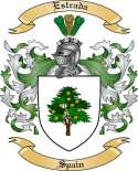 Estrada Family Crest from Spain