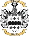 Etherege Family Coat of Arms from England