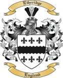 Etheridge Family Crest from England