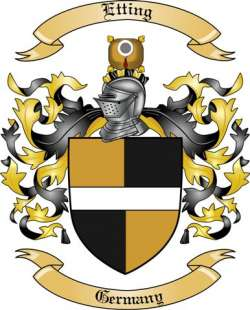 Etting Family Coat of Arms from Germany