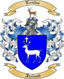 Eustes Family Coat of Arms from Ireland