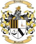Evander Family Crest from Scotland