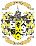 Evands Family Crest from England