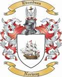 Evandsen Family Crest from Norway