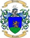 Evanka Family Coat of Arms from Croatia