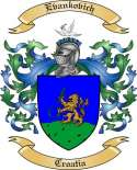 Evankovich Family Crest from Croatia