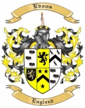 Evans Family Coat of Arms from England