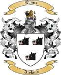 Evans Family Coat of Arms from Ireland