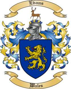 Evans Family Coat of Arms from Wales