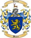 Evens Family Coat of Arms from Wales