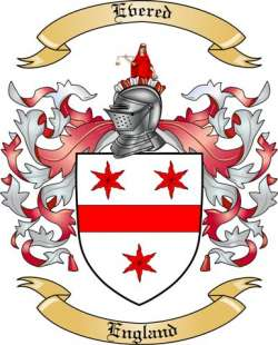Evered Family Coat of Arms from England