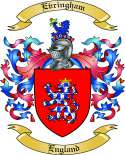 Evringham Family Coat of Arms from England