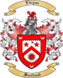 Ewyne Family Coat of Arms from Scotland