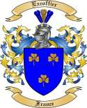 Excoffier Family Crest from France