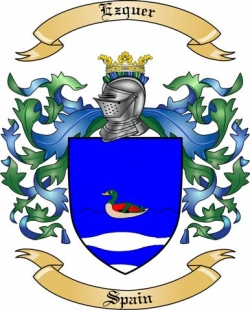 Ezquer Family Crest from Spain
