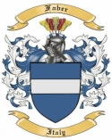 Faber Family Coat of Arms from Italy