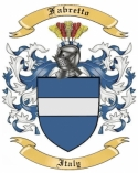 Fabretto Family Coat of Arms from Italy