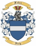 Fabri Family Coat of Arms from Italy