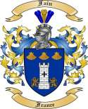 Fain Family Coat of Arms from France