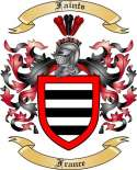 Faints Family Crest from France2