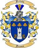Faints Family Coat of Arms from France