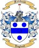 Fairbank Family Crest from England