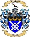 Fairhevid Family Crest from England