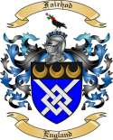 Fairhod Family Coat of Arms from England