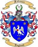 Falconer Family Crest from England