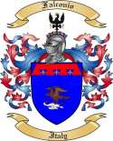 Falconio Family Crest from Italy