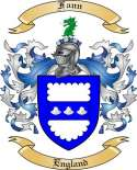 Fann Family Coat of Arms from England