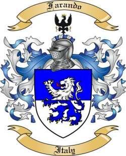 Farando Family Crest from Italy